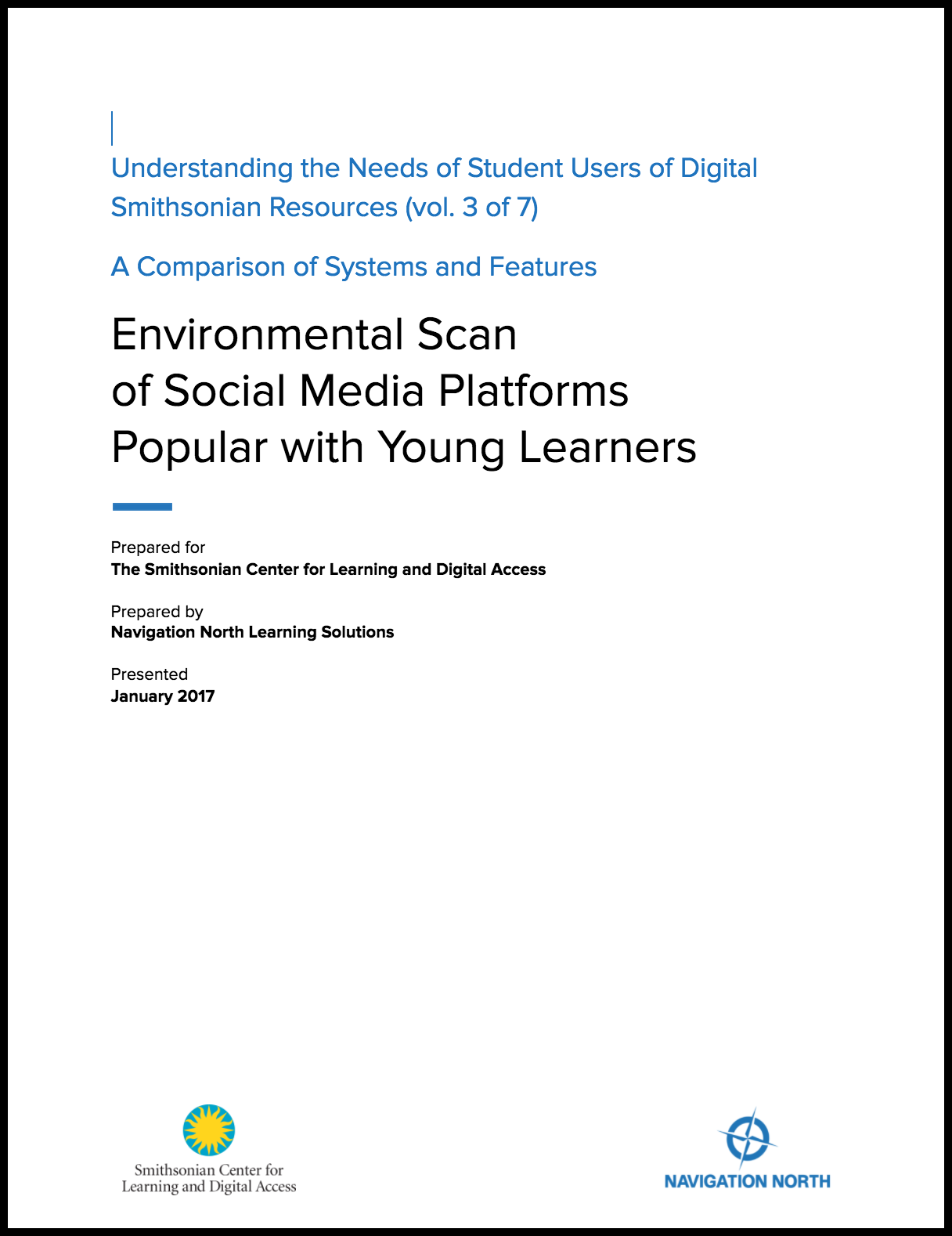 Environmental Scan of Social Media Platforms Popular with Young Learners