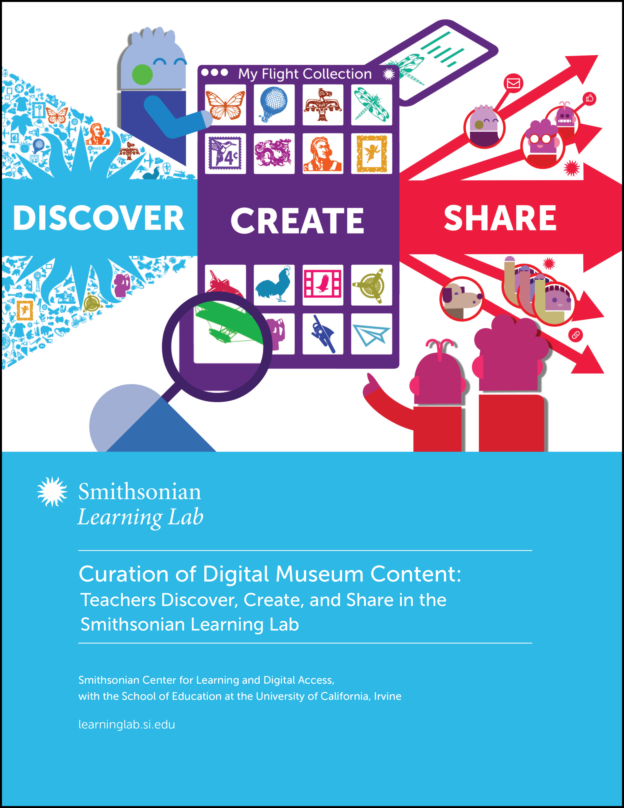 This article summarizes findings from the research report, Curation of Digital Museum Content: Teachers Discover, Create, and Share in the Smithsonian Learning Lab, which was supported by the Carnegie Corporation of New York. The full report can be downloaded from the Smithsonian Learning Lab research page.