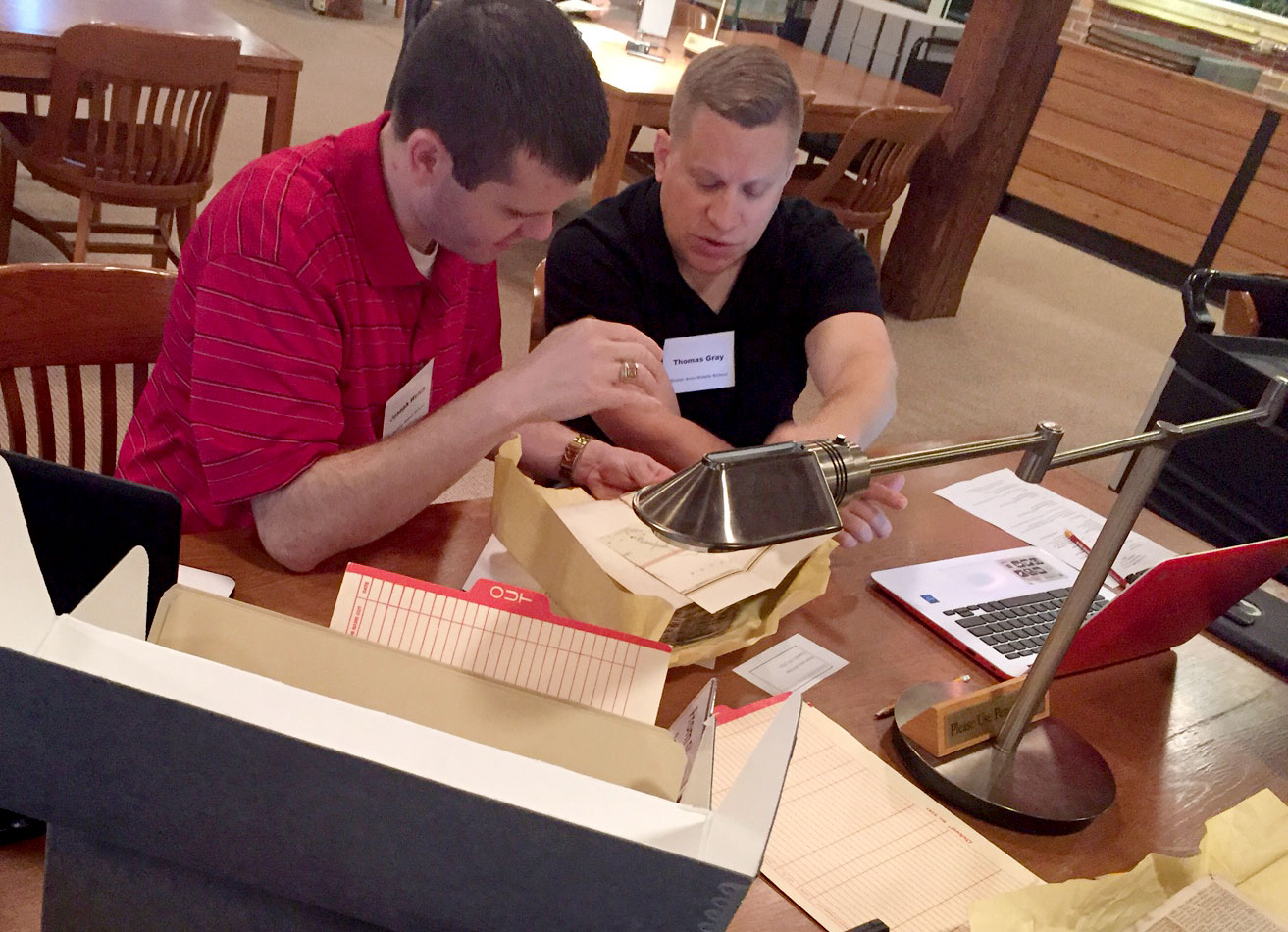 Teachers research local archives for building Smithsonian Learning Lab collections